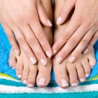 Women french manicure