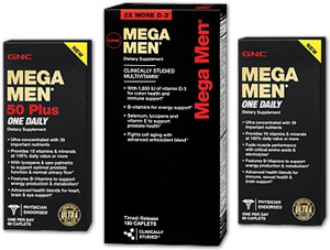 GNC Mega Men multivitamins