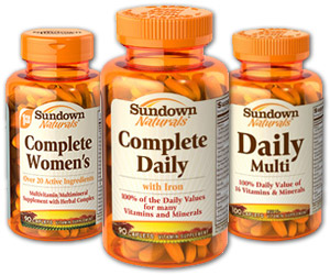 Sundown multivitamins